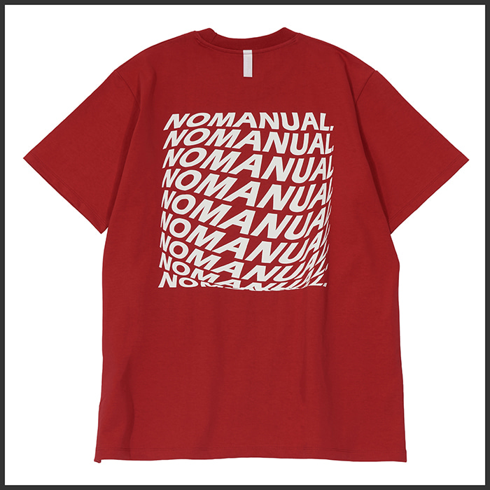 [노매뉴얼]SQUARE GRAPHIC T-SHIRT - RED