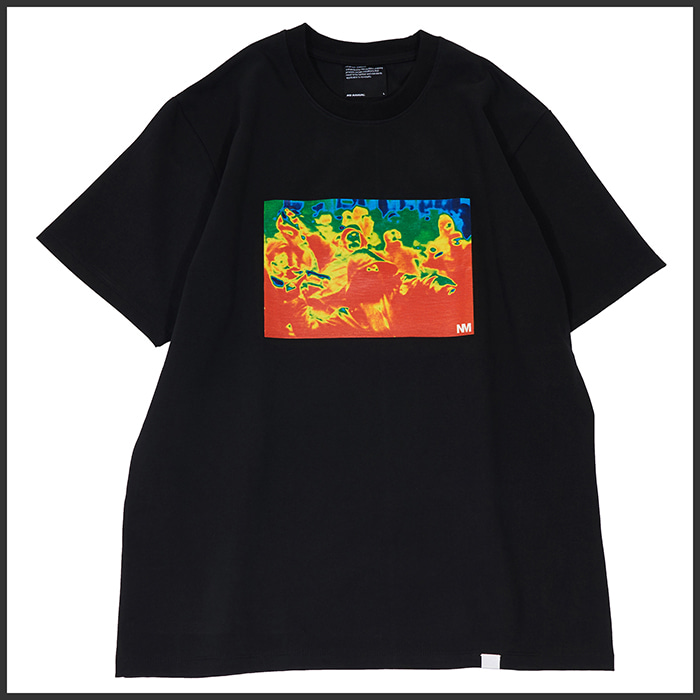 [노매뉴얼]THERMOGRAPHY T-SHIRT - BLACK