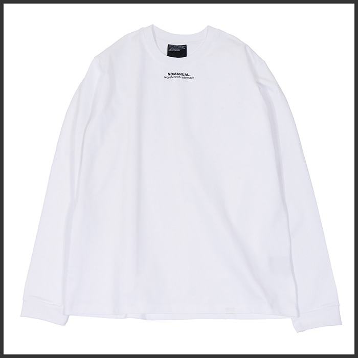 [노매뉴얼]SMALL 'TM' LOGO LONG SLEEVE TEE - WHITE