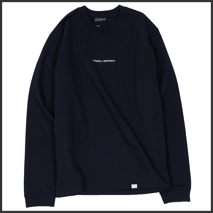 [노매뉴얼]DISTOPIA LONG SLEEVE TEE - DARK NAVY