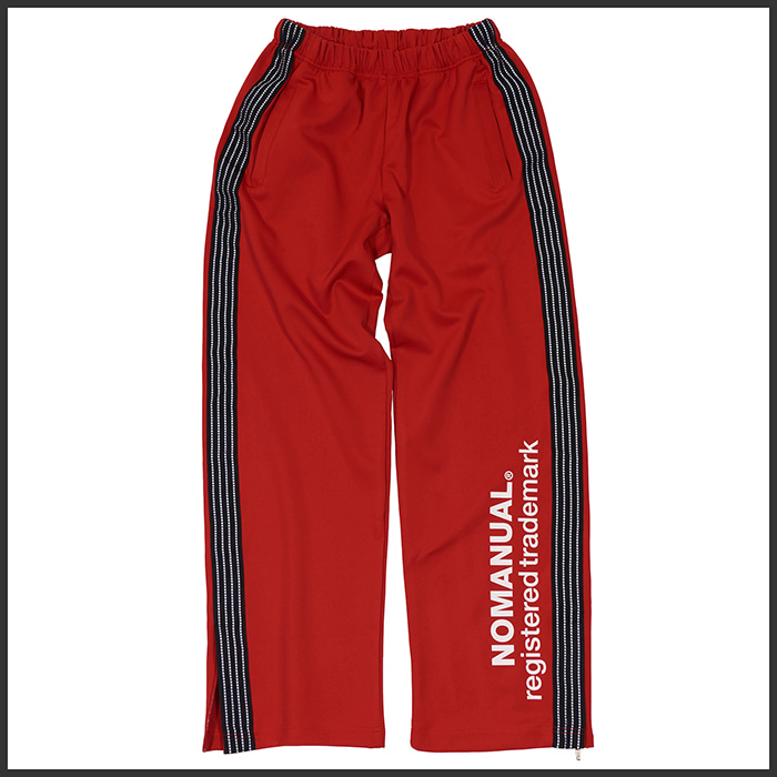 [노매뉴얼]NM REFLECTIVE LINE JERSEY TRACK PANTS - RED