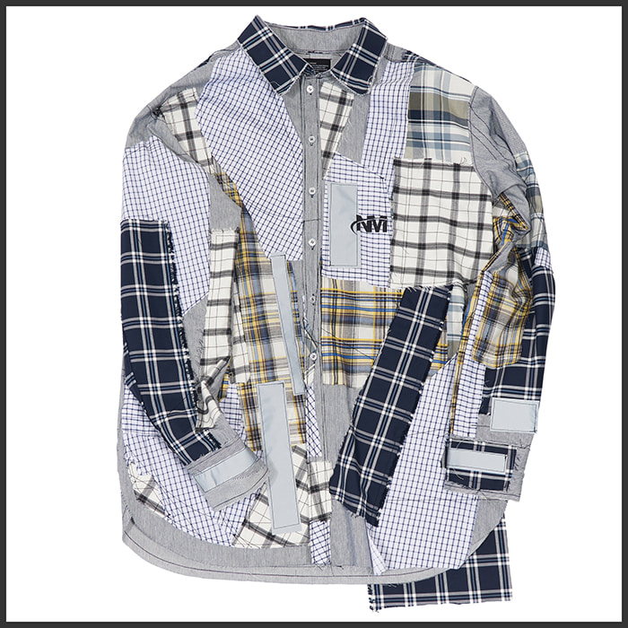 [노매뉴얼]COMBINED CHECK SHIRT - NM ARCHIVE