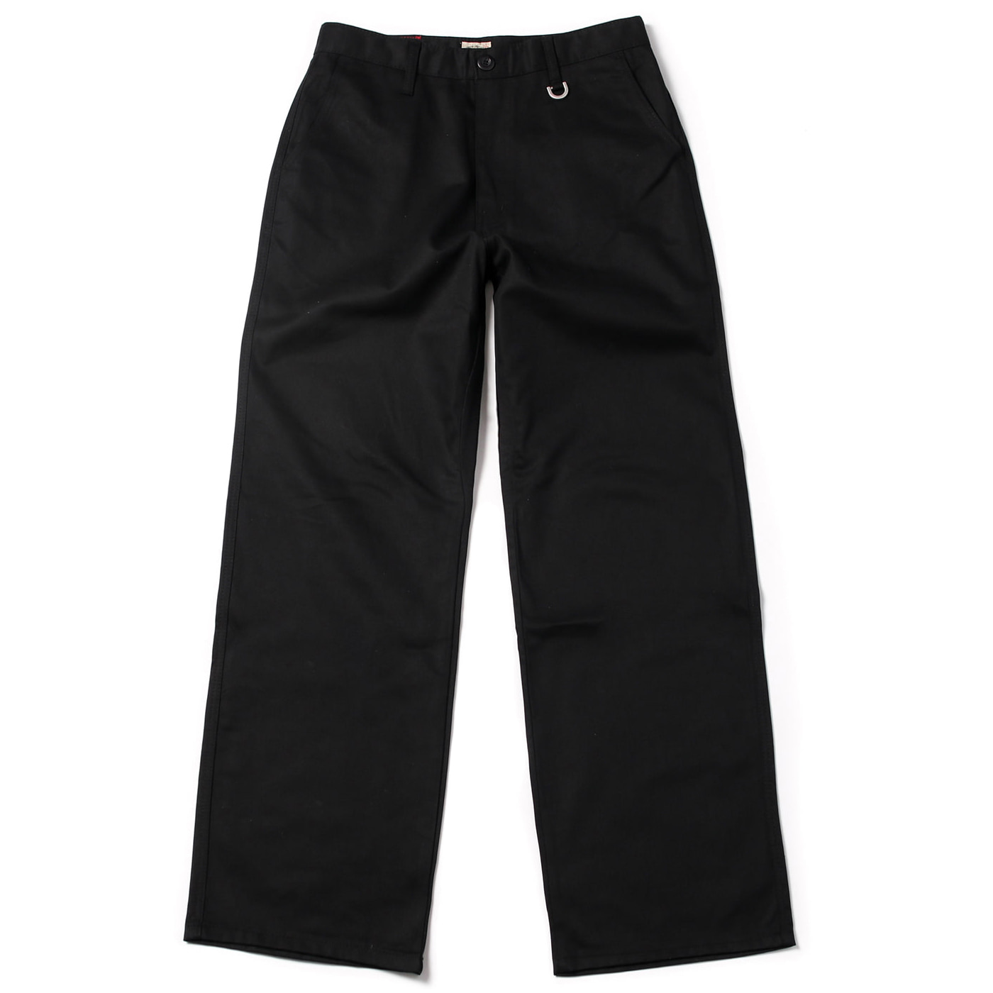 [콘보이] cotton D ring wide pants black