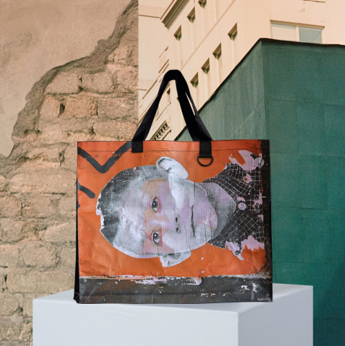 [앤더슨벨]ANDERSSON BELL X HOTELNUANCE JULES VIERA'S DEWEY SHOPPER BAG ala002 ORANGE/BL
