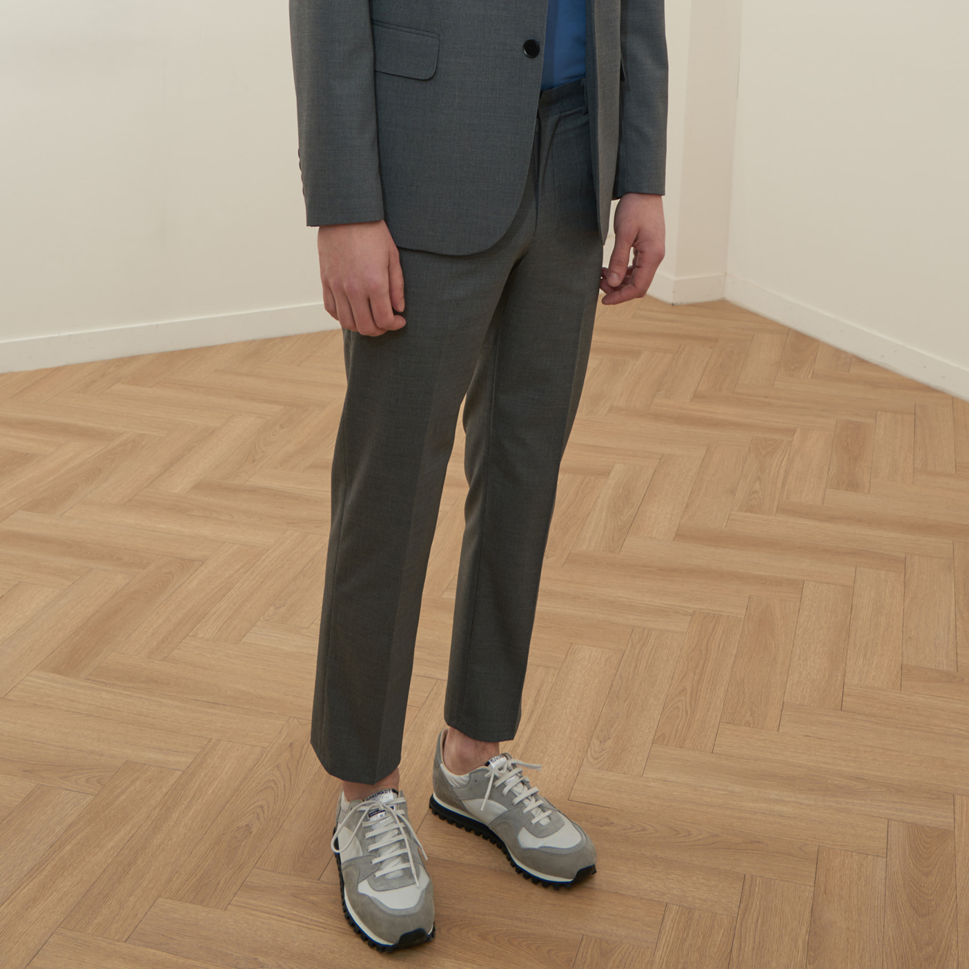 [모노소잉]MONO WOOL SET-UP TROUSER(GRAY)