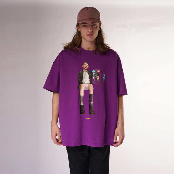 [블락스 요하닉스]SUPER MIND CONTROL T SHIRTS PURPLE