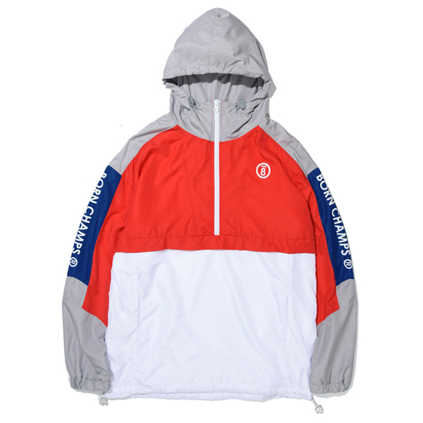 [본챔스]BC LINE COLOR ANORAK RED CERAMJK02RE