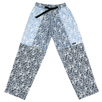 [아조바이아조]paisley tri color pants blue
