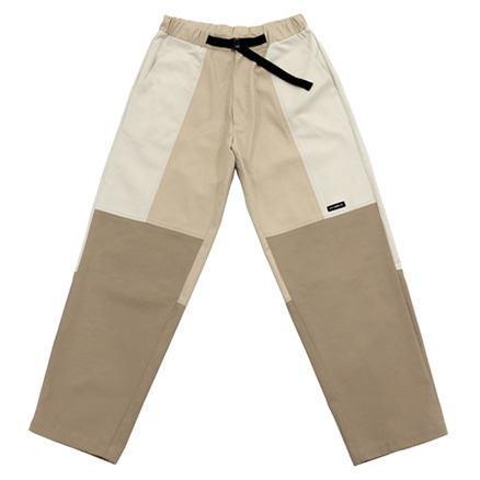 [아조바이아조]twill tri color pants beige