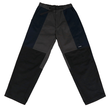 [아조바이아조]twill tri color pants black
