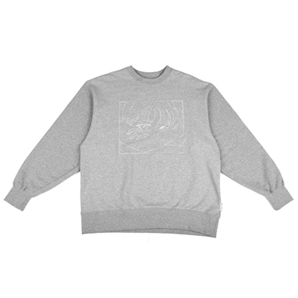 [아조바이아조]manga sweatshirt grey