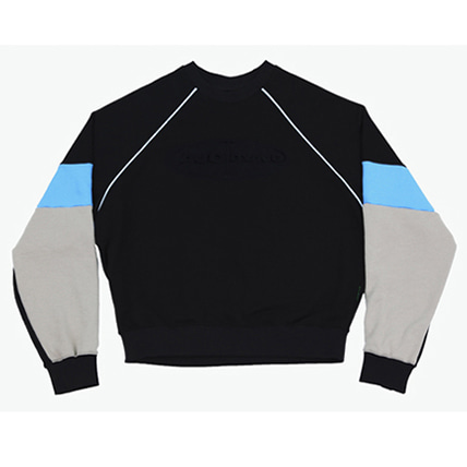 [아조바이아조]tri color sweatshirt black