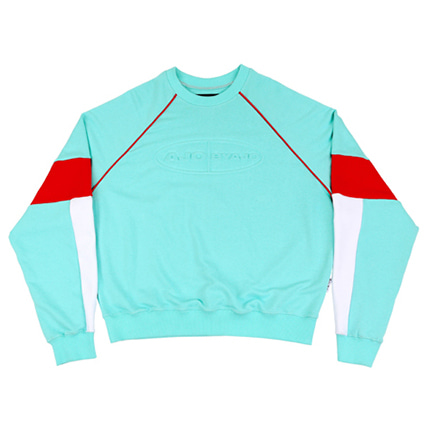 [아조바이아조]tri color sweatshirt mint