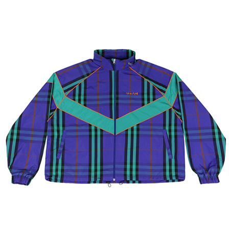 [아조바이아조]padded check windbreaker purple