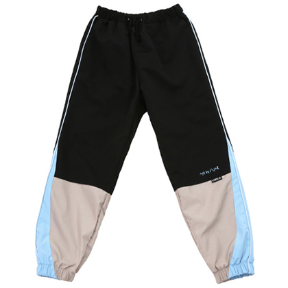 [아조바이아조]tri color jogger pants black