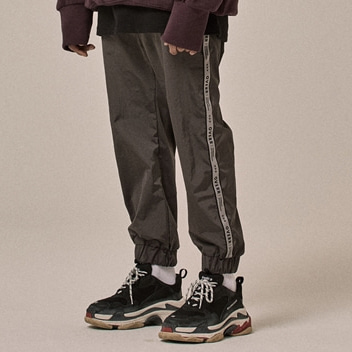 [오베르]18SS SIDE TAPING GRAY PANTS