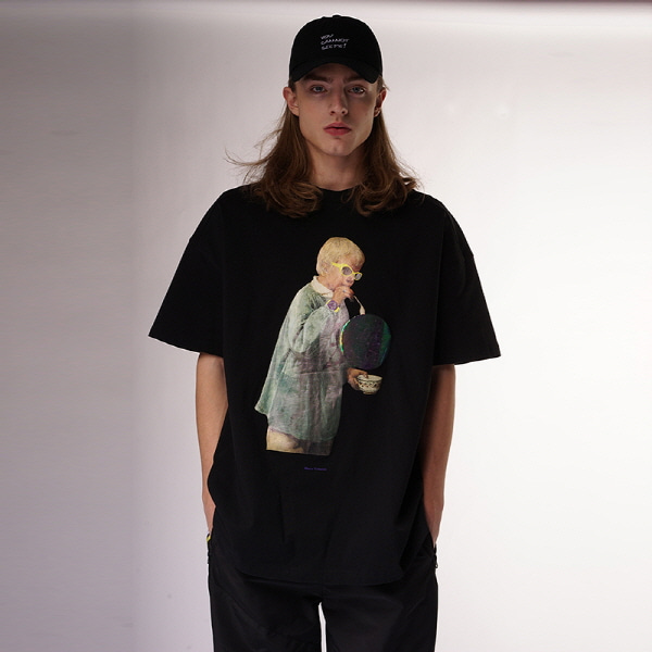 [블락스 요하닉스]SUPER RECOVERY ANYTHING T SHIRTS BLACK