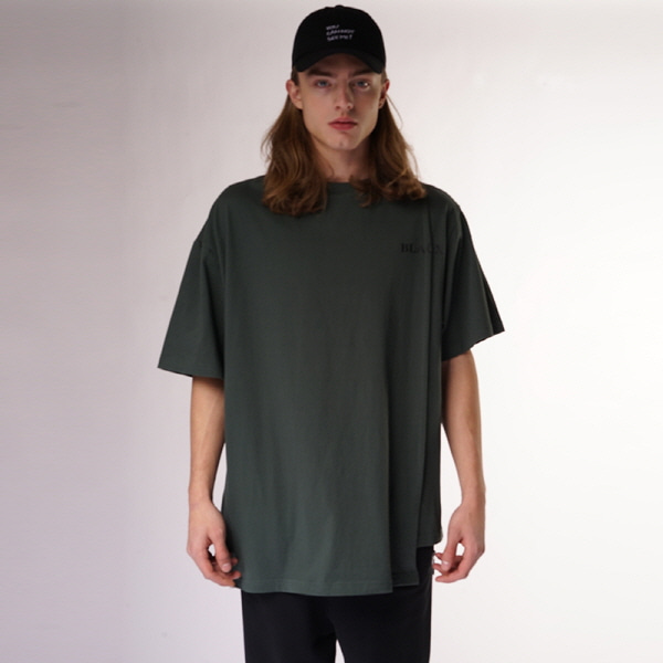 [블락스 요하닉스]BASIC LOGO HALF T SHIRTS DARK GREEN
