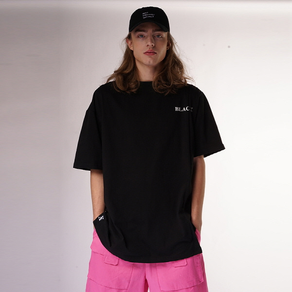 [블락스 요하닉스]BASIC LOGO HALF T SHIRTS BLACK