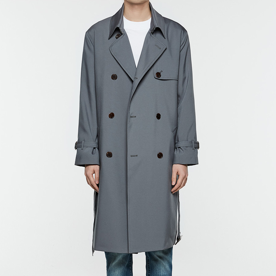 [오엑스스튜디오]18ss New Trench Coat (Khaki Gray)
