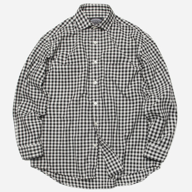 [프리즘웍스]Comfy gingham check shirt _ black