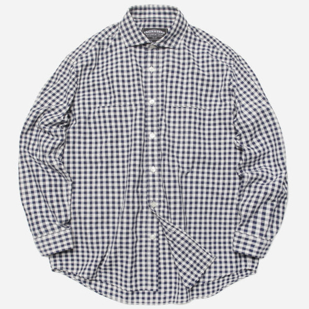 [프리즘웍스]Comfy gingham check shirt _ blue