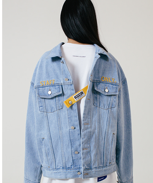 [스텝온리]SAFETY BELT DENIM JACKET (LIGHT BLUE)