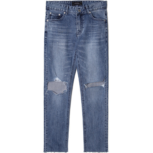 [모디파이드]M#1532 knife cutted slim crop jeans