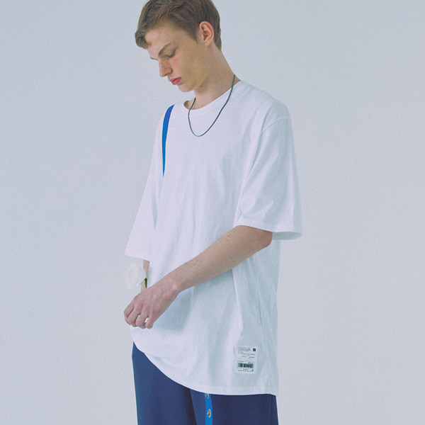 [우조]18 SS 18 overfit cotton shortsleeved tshirts (white)