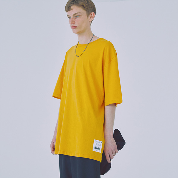 [우조]18 SS 19 overfit cotton shortsleeved tshirts (mustard)