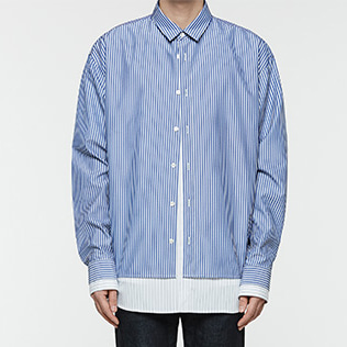 [오엑스스튜디오]Oversize Layered Shirts BLUE
