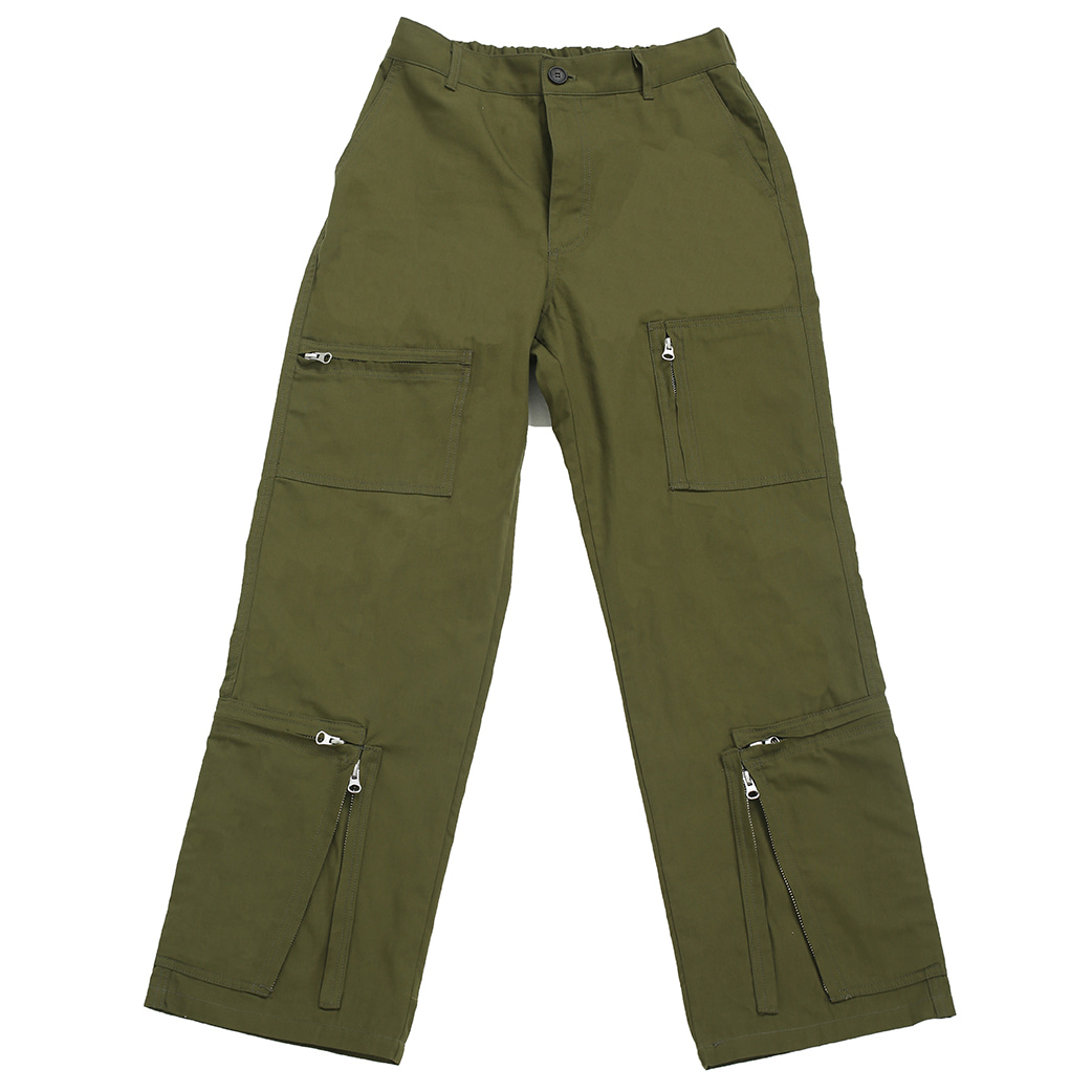[뉴트럴] Khaki zipped pants