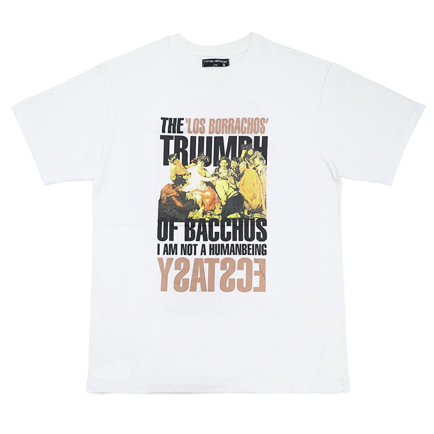 [아임낫어휴먼비잉][18SS] THE TRIUMPH OF BACCHUS T-SHIRT - WHITE