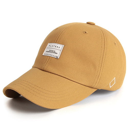 [플래토]BASIC W LABEL CAP_BEIGE