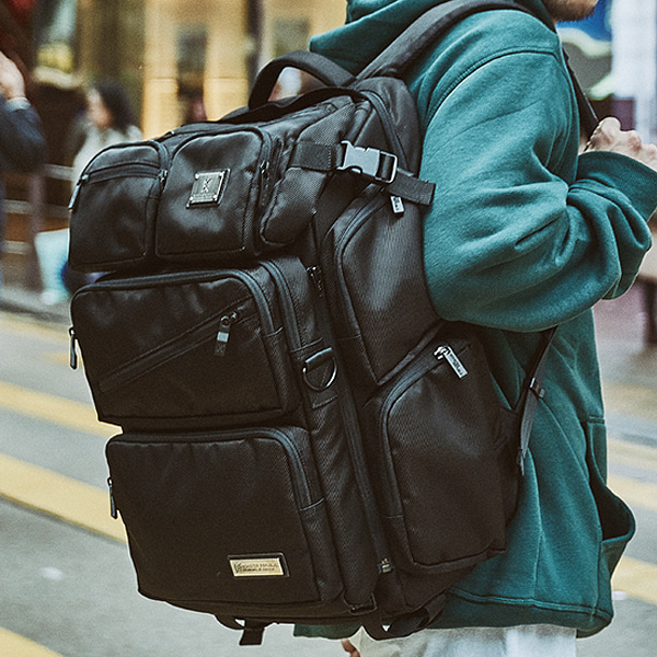 [몬스터 리퍼블릭] DIMENSION REWIND BACKPACK / BALCK