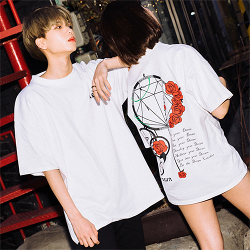 [A.Clown(에이클라운)]Dream Catcher Half-Tee WHITE