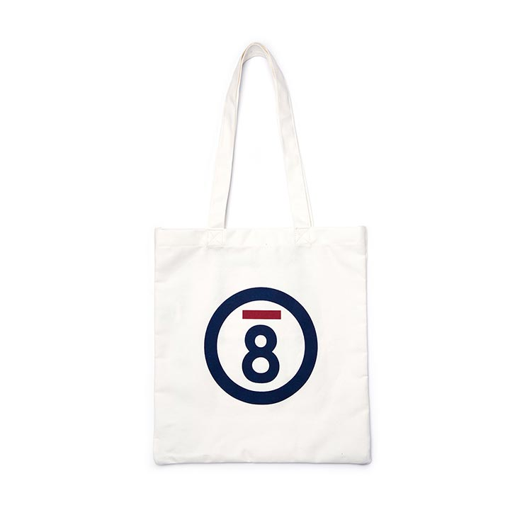 [본챔스]BC LOGO ECO BAG WHITE CERFMBG15WH