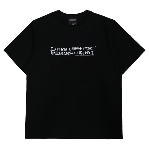 [아임낫어휴먼비잉][18SS] NEW BASIC LOGO T-SHIRT - BLACK