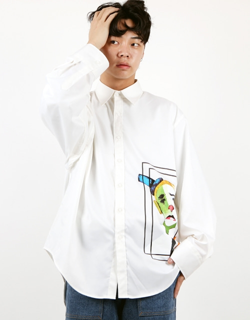 [윅스눕] Big Cara Famous Painting Shirt