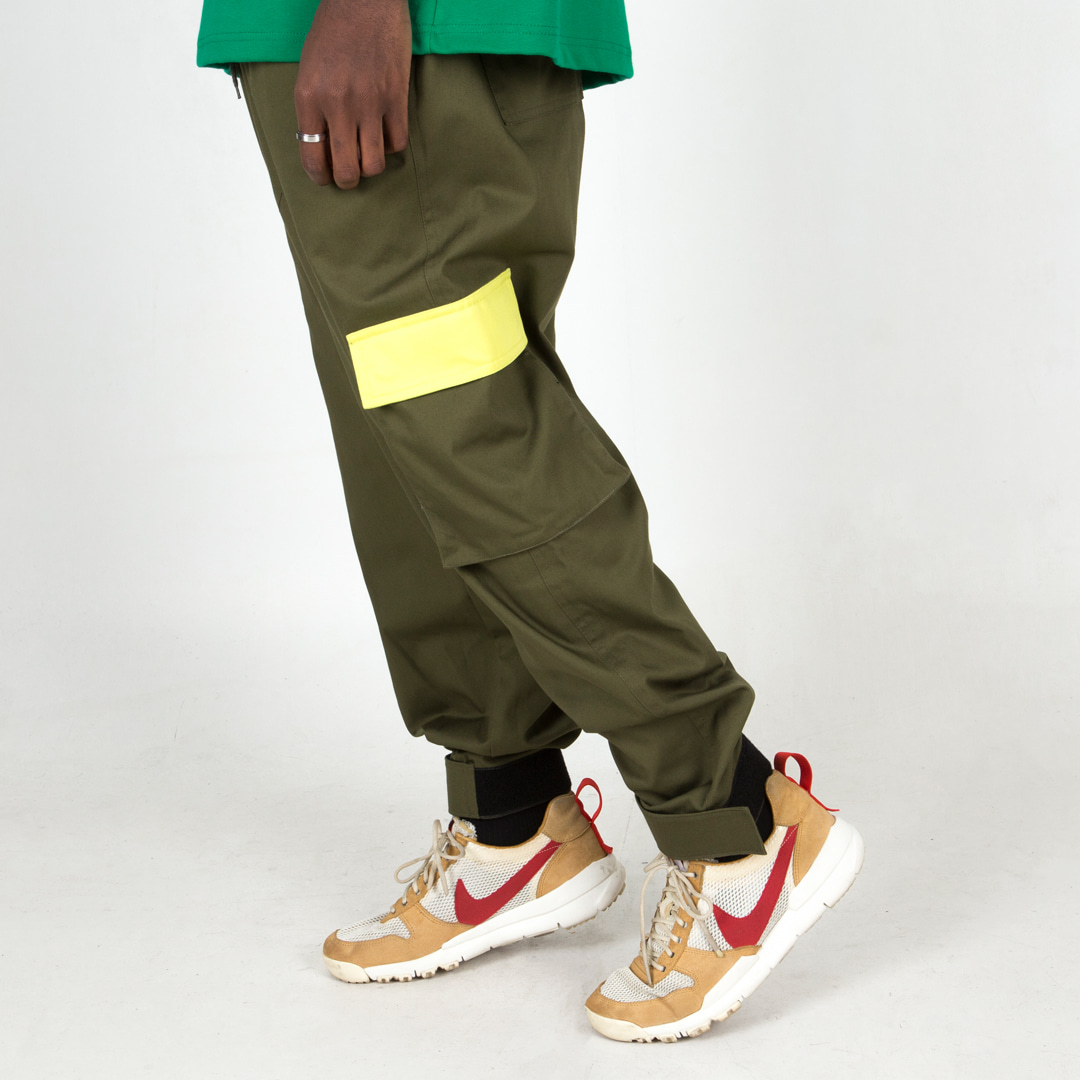 [윅스눕] Color Flap Cargo Pants (2color)