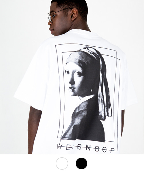 [윅스눕] Pearl Earring T-SHIRT (2color)