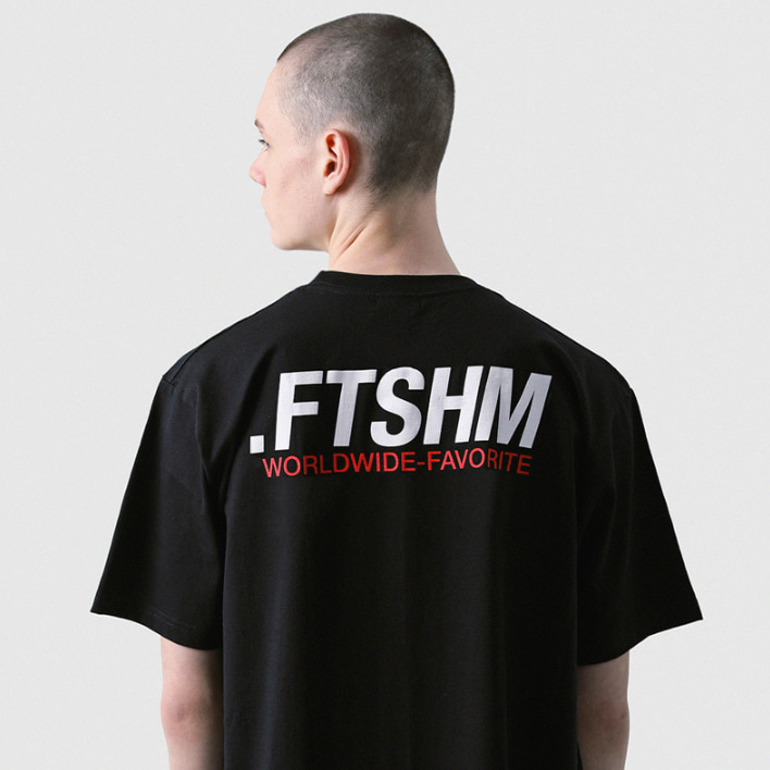 [패티즘]FTSHM WORLDWIDE TEE BLACK