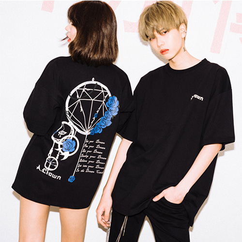 [A.Clown(에이클라운)]Dream Catcher Half-Tee BLACK
