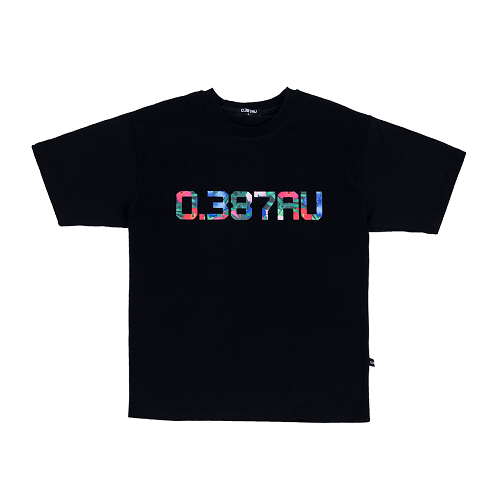 0.387AU Flower Logo Black T-shirt 랩퍼 에이솔 착용