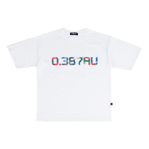 0.387AU Flower Logo White T-shirt