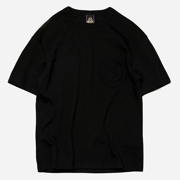 [프리즘웍스]U rib pocket tee _ black