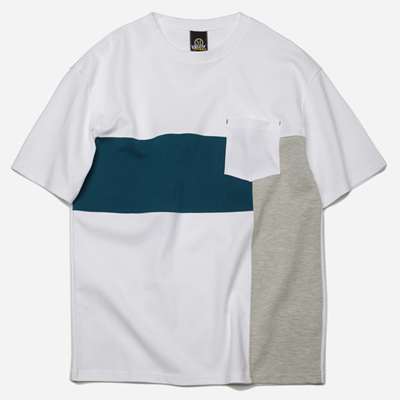 [프리즘웍스]Saturation block tee _ white