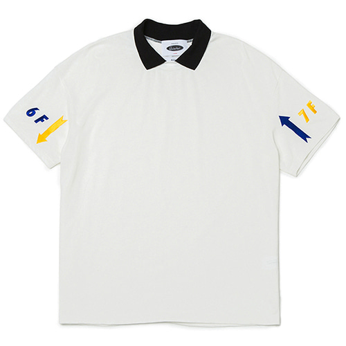 [콰이어티스트]Floor Pique Collar 1/2 Jersey white
