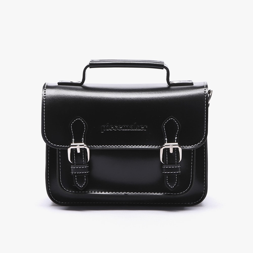 [피스메이커]LEATHER SATCHEL BAG MINI (BLACK)