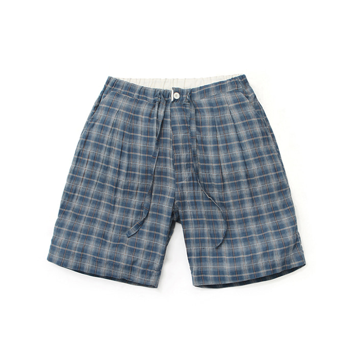 [라퍼지스토어]Linen Ombre Check Pants_Navy